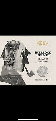 Sherlock Holmes 50p Coin - Royal Mint BU (Uncirculated) Sealed Folder Fantastic
