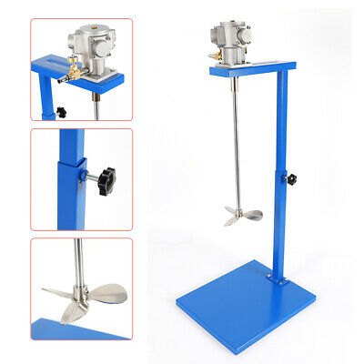 5 Gallon Pneumatic Mixer Paint Mixer Stainless Steel Mixing Rod Mix Tool w/Stand
