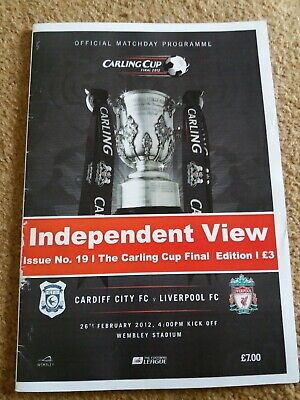 Independant View Magazine Football Programmes Issue 19 Cup Final