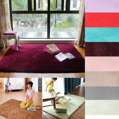 Soft Fluffy Rugs Anti-Skid Rug Runner Thick Pile Living Room Carpet Floor Mat