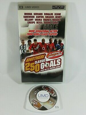 Psp UMD Video - Another 250 Classic Goals From The F.A. Premier League - Disc...