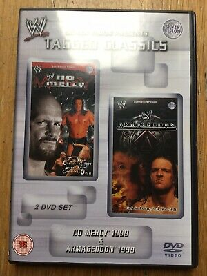 WWE Tagged Classics - No Mercy & Armageddon 1999 DVD 99 WWF RARE (2 Disc Set)
