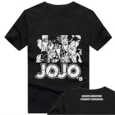 JoJo's Bizarre Adventure Short Sleeve Anime T-Shirt Tops Unisex free shipping