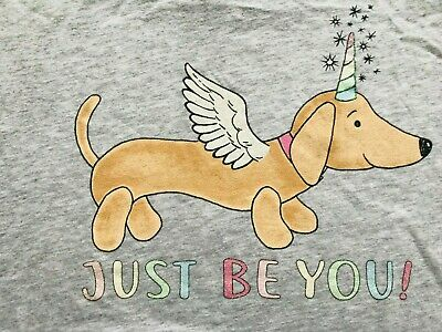 New Peter Alexander Just Be You Unicorn Penny Tee Grey Marle S Rrp$49.95