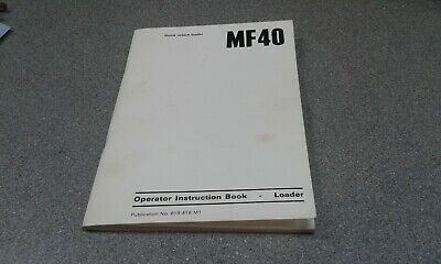Tractor Manuals & Publications Original Massey Ferguson 738 Tiller Instruction Book 819022m1 Manual Business, Office & Industrial