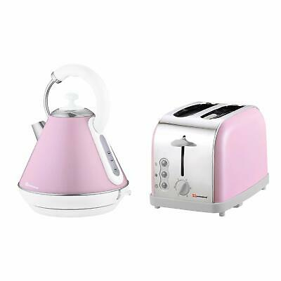 Cordless Electric Kettle & Toaster Set, Stainless Steel  Fast work