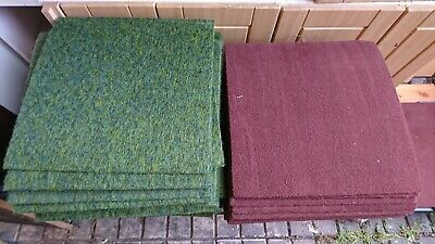 Commercial Grade Green/Blue carpet Tiles Heavy Duty Retail Floor Office Covering