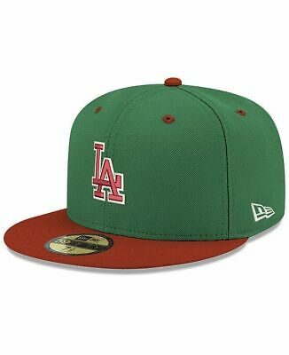 Los Angeles Dodgers New Era Green Red Fitted Hat Cap 59FIFTY MLB PxSize