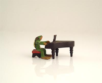 NOS Franz Bergmann Vienna Tiny FROG PLAYING PIANO Musician Bronze Cold Painted