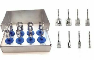 8 Pcs Dental Trephine Drills Kit for Implant Surgical Surgery Polish