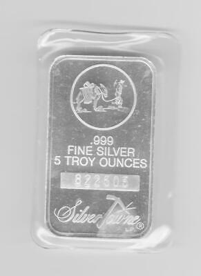 Factory Sealed Prospector SilverTowne Five 5 Troy Ounces oz .999 Fine Silver Bar
