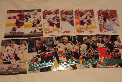 11  Nhl Arizona Phoenix Coyotes All Different Ice Hockey Cards Lot (No Doubles)