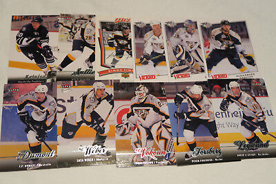 11  Nhl Nashville Predators All Different Ice Hockey Cards Lot (No Doubles)