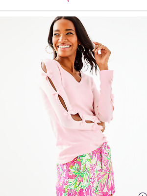 a8ac89dad101b7 Lilly Pulitzer EDINA SWEATER,Paradise Pink, NWT, Small. orig$128 new arrival