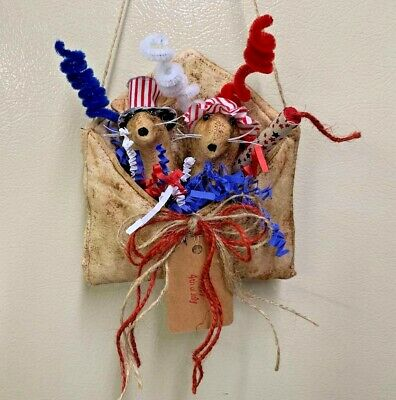 Primitive Envelope/Farmhouse/Mouse/Uncle Sam/ Red White Blue/Grunged