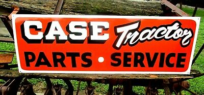Vintage Old Antique Style Tractors Parts Service Painted Sign Farm Machinery