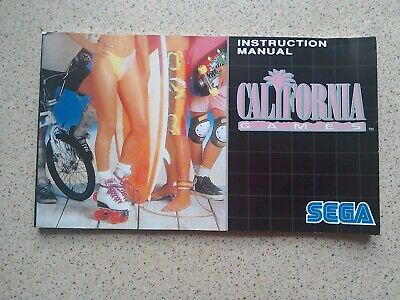California Games Manual - Sega Mega Drive - NO GAME MANUAL ONLY