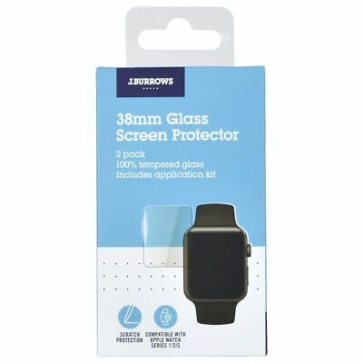 J.Burrows Apple Watch Glass Screen Protector 38mm 2 Pack