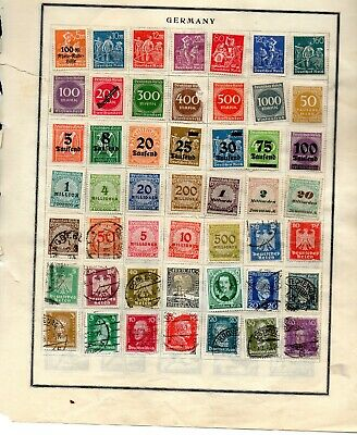 Germany 167 stamps 1921-1940 vf used and mint from an old scott album 5 pages