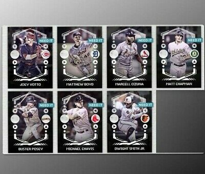 2019 BUNT DIGITAL WHITE DROP 1 SET OF 7 CARDS POSEY/CHAVIS++ Topps Bunt Digital