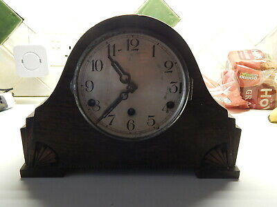 vintage art deco english  napolion hat  west minster mantle  clock/ dated 1934