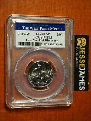 2019 W 25C Lowell Np Atb Quarter Pcgs Ms63 First Week Of Discovery Label