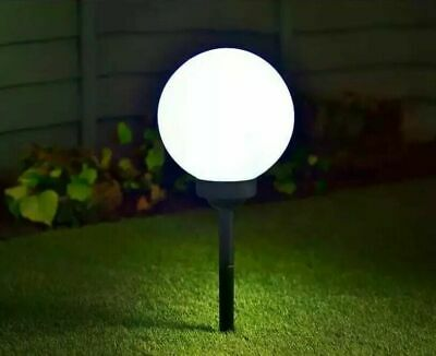 Luna Globe Stake Ground Solar LED Ball Lights Powered Garden Decking Patio Path
