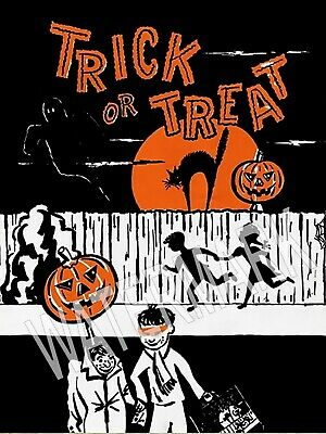 Trick or Treat Bag Halloween Candy High Quality Metal Magnet 3 x 4 inches 9684