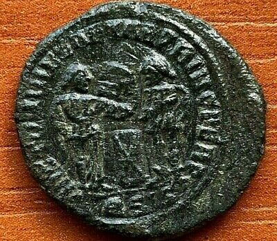 Constantine the Great 308-337 AD AE Follis Two Victories over Altar Rare