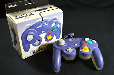 Boxed Official Nintendo GameCube Controller Original Clear Purple DOL-003
