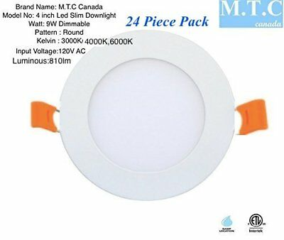 Led 4 inch round slim panel 9W, 810 lm , 3000K/6000K CETL Certified Pack of 24