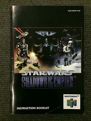 SW Shadow of the Empire Instruction Booklet Manual Nintendo 64 | Good Condition