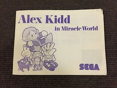 Alex Kidd in Miracle World Manual | Sega Master System | Good Condition