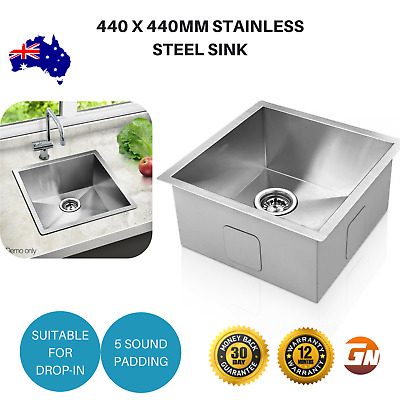 Cefito 440 x 440mm Stainless Steel Sink Laundry Basin Bowl Strainer Square