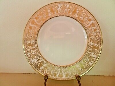 Wedgwood Gold Florentine Entree Salad Plates as New W4219