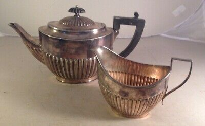 Vintage Silver Plated Teapot EPNS  Milk Jug Creamer WILLIAM HUTTON SONS ENGLAND