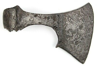 Ancient Rare Authentic Viking Kievan Rus Khazar Byzantin Iron Battle Axe 7-9 AD