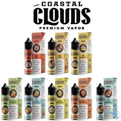 Coastal Cloud E Liquid 50ml All Flavours 70/30 American E Juice 0mg 3mg UK STOCK