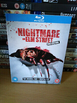 A Nightmare On Elm Street Collection Blu Ray w/ Slip Case UK Release