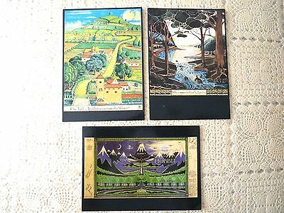 (J.r.r Tolkien) The Hobbit Postcards Published By The Bodleian Library - Rare