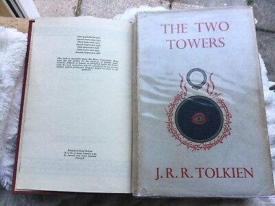 RARE! (TOLKIEN) LORD OF THE RINGS: THE TWO TOWERS (1960) HB DW hobbit related