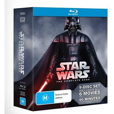 Star Wars: The Complete Saga Blu-ray Collection 9-Disc Box Set BRAND NEW