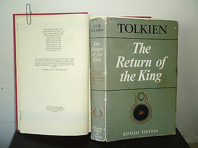 (TOLKIEN) LORD OF THE RINGS: THE RETURN OF THE KING  (1966 2ND 1/1) HB DW hobbit