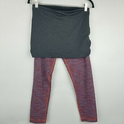 14ae2b7e73 Lululemon women SZ 8 Yin to You crop Wee Are From Space skirted leggings
