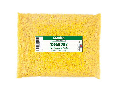 10 lb Yellow Beeswax Pellets Bee Wax Natural Beads Granules Pearls Craft SALE