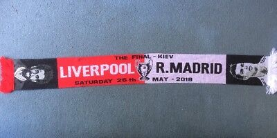 Liverpool V Real Madrid , Champions League Final Scarf , Kiev , 26th May , 2018.