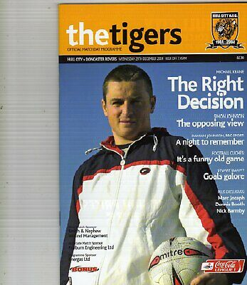 HULL CITY  V  DONCASTER ROVERS  29/12/2004 league 1 PROGRAMME
