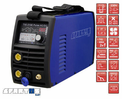 SPARTUS® TIG 210E Pulse AC/DC EASY TO USE AND VERSATILE  FOR WELDING STEEL
