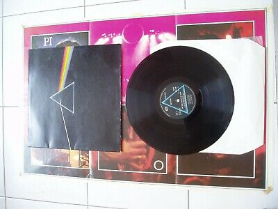 Pink Floyd dark side of the moon vinyl lp record with poster