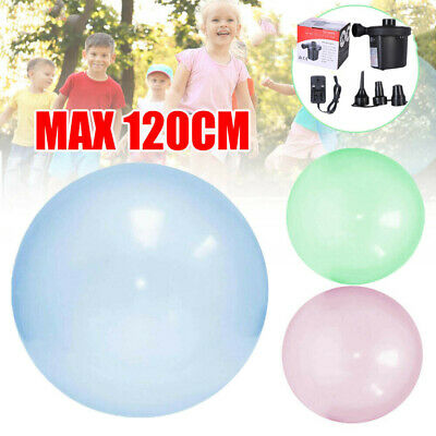 Tear-Resistant Wubble Bubble Ball with inflator Bubble Plays Toys 3 Colors